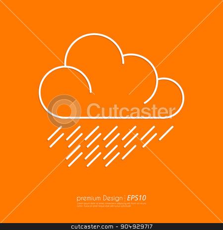 Stock Vector Linear icon cloud. stock vector clipart, Stock Vector Linear icon cloud. Flat design. by Amelisk