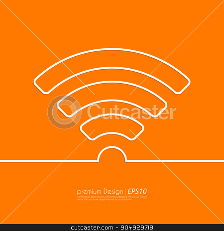 Stock Vector Linear icon wi-fi. stock vector clipart, Stock Vector Linear icon wi-fi. Flat design. by Amelisk