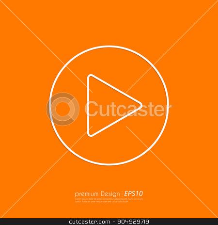 Stock Vector Linear icon start. stock vector clipart, Stock Vector Linear icon start. Flat design. by Amelisk