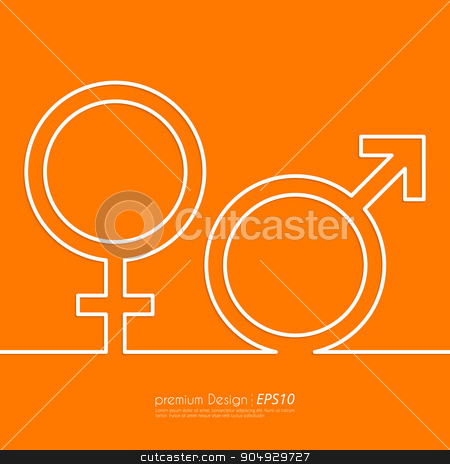 Stock Vector Linear icon male and female. stock vector clipart, Stock Vector Linear icon male and female. Flat design. by Amelisk