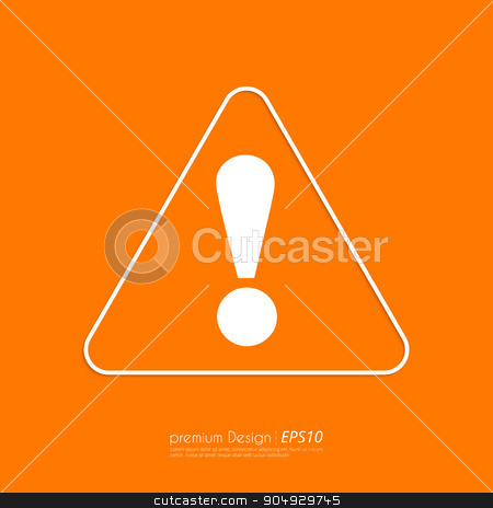 Stock Vector Linear icon attention stock vector clipart, Stock Vector Linear icon attention. Flat design. by Amelisk