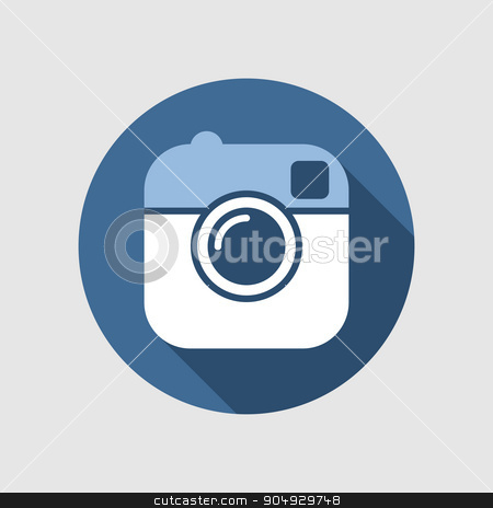 Vector illustration of a camera.  stock vector clipart, Vector illustration of a camera. Flat design. by Amelisk