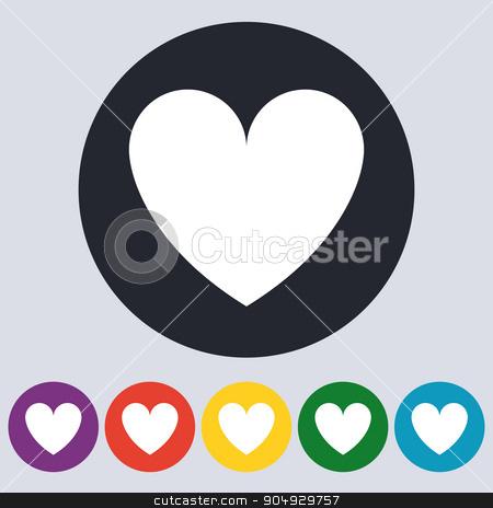 Vector illustration of linear heart. stock vector clipart, Vector illustration of linear heart. Flat design. by Amelisk