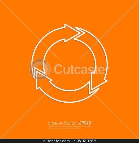 Stock Vector Linear icon three arrows stock vector clipart, Stock Vector Linear icon three arrows. Flat design. by Amelisk