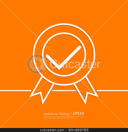 Stock Vector Linear icon quality stock vector clipart, Stock Vector Linear icon quality. Flat design. by Amelisk
