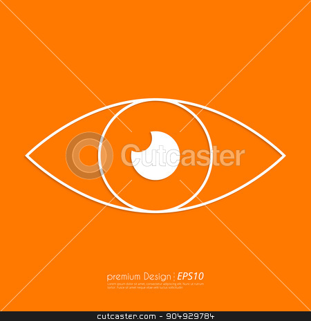 Stock Vector Linear icon eyes stock vector clipart, Stock Vector Linear icon eyes. Flat design. by Amelisk