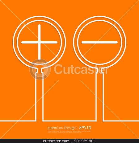 Stock Vector Linear icon increase and decrease stock vector clipart, Stock Vector Linear icon increase and decrease . Flat design. by Amelisk
