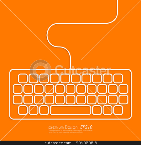 Stock Vector Linear icon keyboard stock vector clipart, Stock Vector Linear icon keyboard . Flat design. by Amelisk