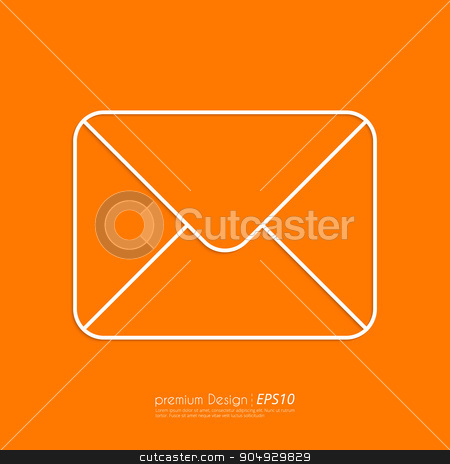 Stock Vector Linear icon mail stock vector clipart, Stock Vector Linear icon mail . Flat design. by Amelisk