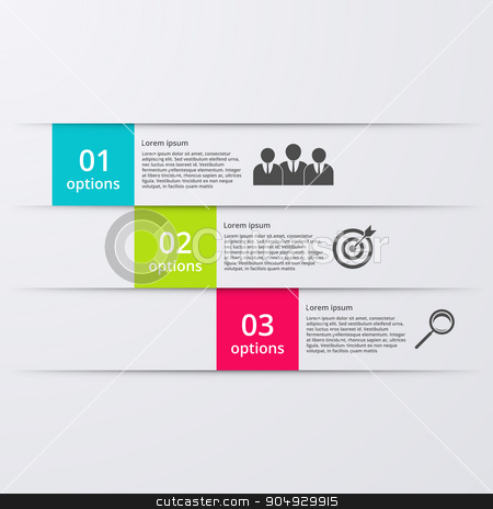 Vector illustration infographics three options. stock vector clipart, Vector illustration infographics three options. Stock vector by Amelisk