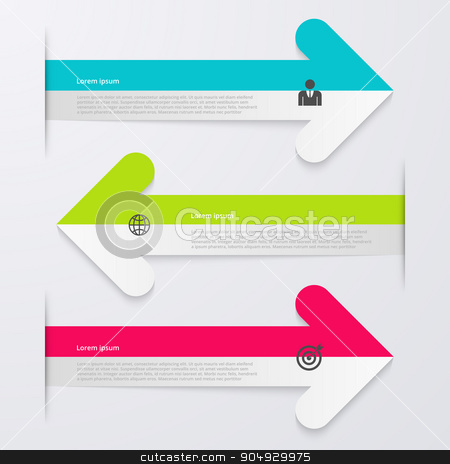 Vector illustration infographics 3 arrows. stock vector clipart, Vector illustration infographics 3 arrows. Stock vector by Amelisk