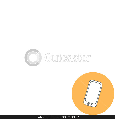 Abstract Creative concept vector illustration of modern Mobile phone. Line icons. Flat design pictogram stock vector clipart, Abstract Creative concept vector illustration of modern Mobile phone. Line icons. Flat design pictogram by Vladimir Khapaev