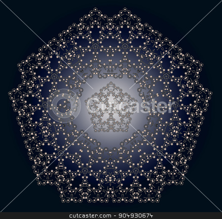 Abstract dark pattern stock photo, Elegant abstract background with dark pentahedral arabesques by Liubov Nazarova