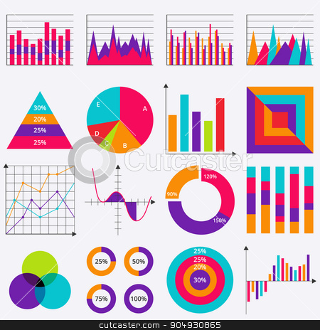 Stock Vector Business data market elements stock vector clipart, Stock Vector Business data market elements. Stock vector by Amelisk
