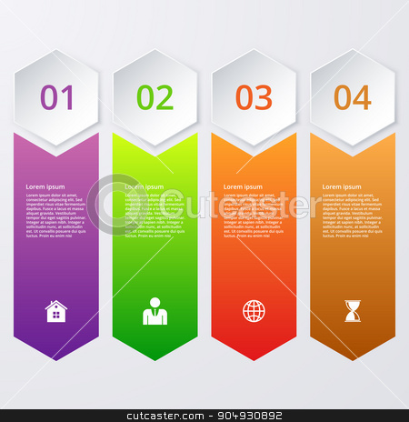 Vector illustration infographics stock vector clipart, Vector illustration infographics four options. Stock vector by Amelisk