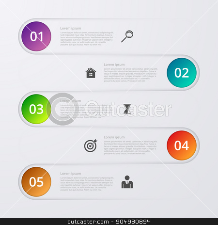 Vector illustration infographics stock vector clipart, Vector illustration infographic five options. Stock vector by Amelisk