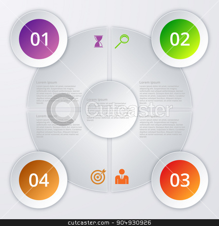 Vector illustration infographics stock vector clipart, Vector illustration of circles infographics. Stock vector by Amelisk