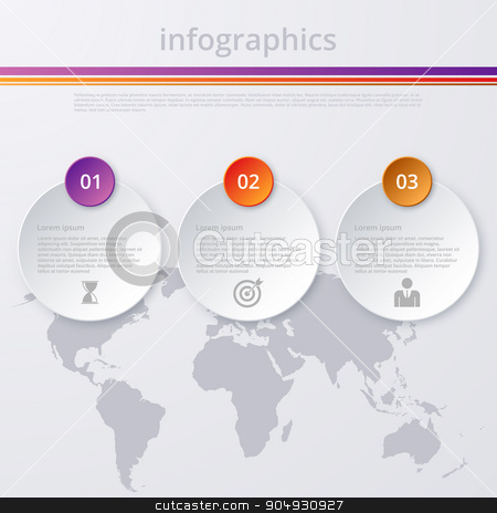 Vector illustration infographics stock vector clipart, Vector illustration infographics Timeline circle. Stock vector by Amelisk