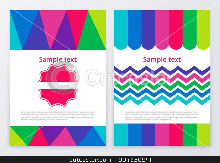 Vector illustration of color brochures stock vector clipart, Vector illustration of color brochures. Stock vector by Amelisk
