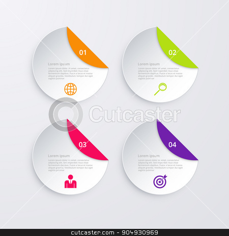 Vector illustration of infographics four options stock vector clipart, Vector illustration infographics four options. Stock vector by Amelisk
