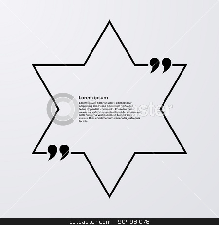 Quote of the text in box stock vector clipart, Quote of the text in the star . Vector illustration. by Amelisk