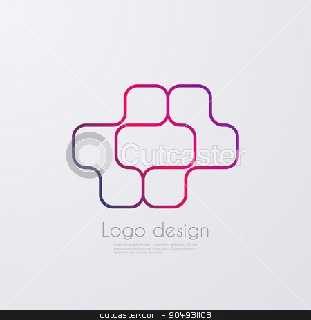 Vector illustration of abstract logo stock vector clipart, Vector illustration of abstract logo. Stock vector by Amelisk
