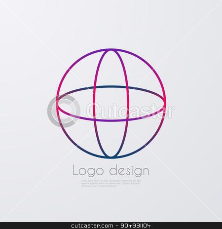 Vector illustration letter logo o stock vector clipart, Vector illustration letter logo o. Stock vector by Amelisk