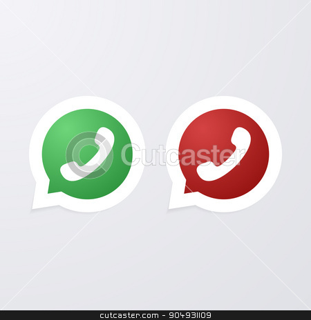 Vector illustration of icon call stock vector clipart, Vector illustration of icon call. Stock vector by Amelisk