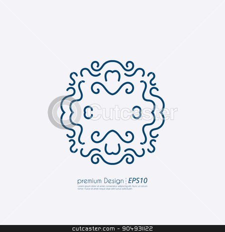 Vector illustration of a linear design stock vector clipart, Vector illustration of a linear design monograms. by Amelisk