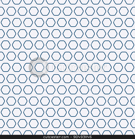 Vector illustration of a linear design stock vector clipart, Vector illustration of a seamless pattern of hexagons. by Amelisk