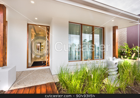 A beautiful image of a lawn with home behind it stock photo, A beautiful image of a lawn with home behind it by JRstock