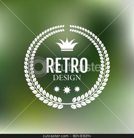 Vector illustration. The minimalist retro logo stock vector clipart, Vector illustration. The Stock vector logo design by Amelisk