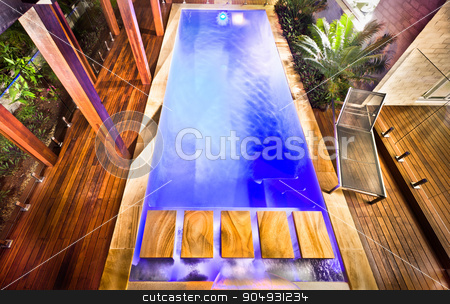 A stunning and beautiful picture of a hosue pool from top  stock photo, A stunning and beautiful picture of a hosue pool from top by JRstock