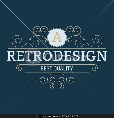 Vector illustration. The Stock vector logo design stock vector clipart, Vector illustration. The Stock vector logo design. by Amelisk
