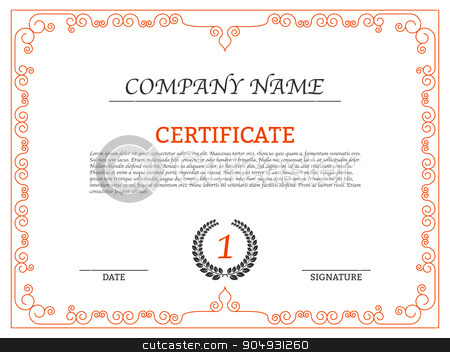 Vector illustration of a luxury Certificate stock vector clipart, Vector illustration of a luxury Certificate. Stock vector by Amelisk