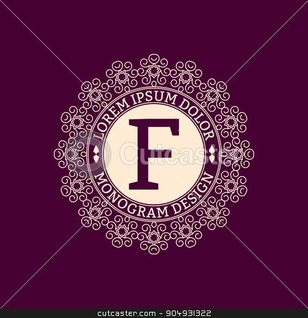 Vector illustration monogram design stock vector clipart, Vector illustration monogram design. The Stock vector by Amelisk