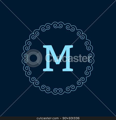Vector illustration monogram design stock vector clipart, Vector illustration monogram design. The Stock vector by Amelisk