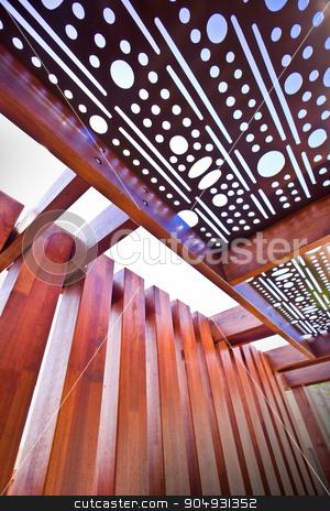 Beautifull roof of hosue made of wood stock photo, Beautifull roof of hosue made of wood by JRstock