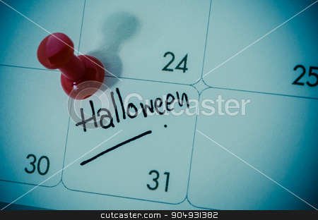 Halloween concept. stock photo, An October calendar showing the 31st, Halloween concept. by Miss. PENCHAN  PUMILA