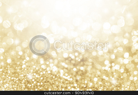 Lights on gold with star bokeh background. stock photo, Lights on gold with star bokeh abstract as background. by Miss. PENCHAN  PUMILA