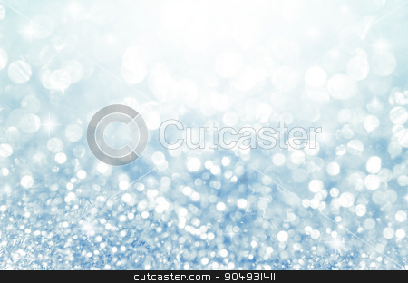 Lights on blue with star bokeh background. stock photo, Lights on blue with star bokeh abstract as background. by Miss. PENCHAN  PUMILA