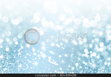 Abstract Winter blue background. stock photo, Abstract Winter blue background abstract bokeh by Miss. PENCHAN  PUMILA