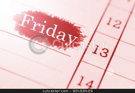 Friday 13th. stock photo, Friday 13th on Grunge paper. by Miss. PENCHAN  PUMILA