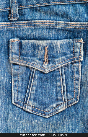 Blue jeans pocket. stock photo, Close up of the Blue jeans pocket. by Miss. PENCHAN  PUMILA