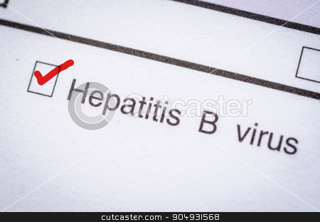 Hepatitis B form request. stock photo, Red Check Laboratory test, Hepatitis B form request. by Miss. PENCHAN  PUMILA