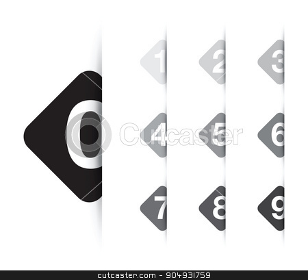 numbered option background stock vector clipart, numbered option background by jameschipper