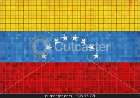 Flag of Venezuela stock vector clipart, Flag of Venezuela - Illustration,  Abstract Mosaic The Venezuela Flag,  Grunge mosaic Flag of Venezuela,  Abstract grunge mosaic vector by Jugoslav