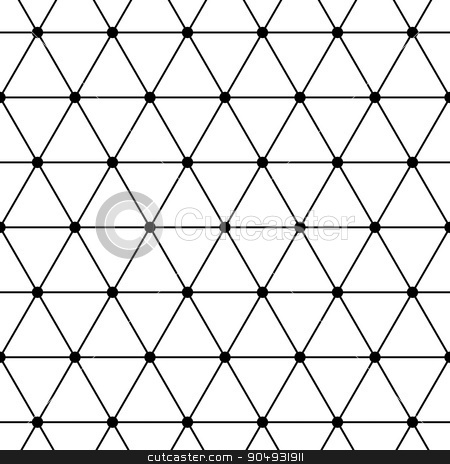 Vector illustration of a seamless pattern stock vector clipart, Vector illustration of a seamless pattern of triangles. by Amelisk