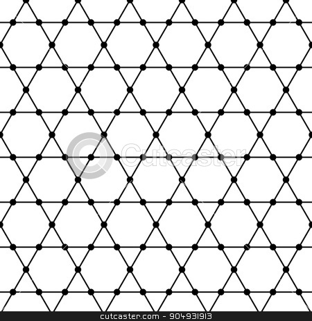 Vector illustration of a seamless pattern stock vector clipart, Vector illustration of a seamless pattern of hexagons. by Amelisk