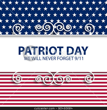 Stock vector Patriot Day USA stock vector clipart, Stock vector Patriot Day USA. Vector illustration by Amelisk